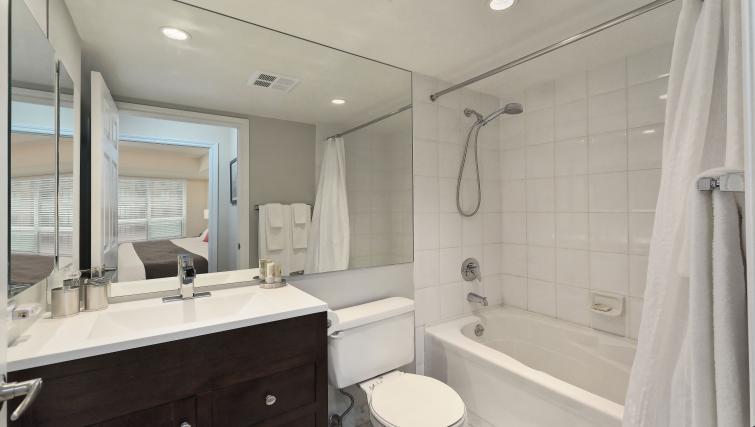 Bathroom at Qwest Apartments