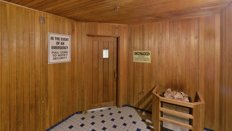 Sauna at Qwest Apartments