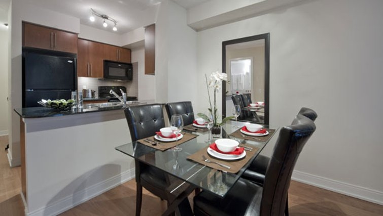 Elegant dining area in Nuvo Etobicoke Apartments