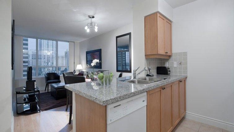 Bright kitchen in Nuvo Etobicoke Apartments