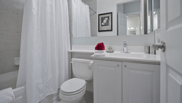 Tasteful bathroom in Nuvo Etobicoke Apartments