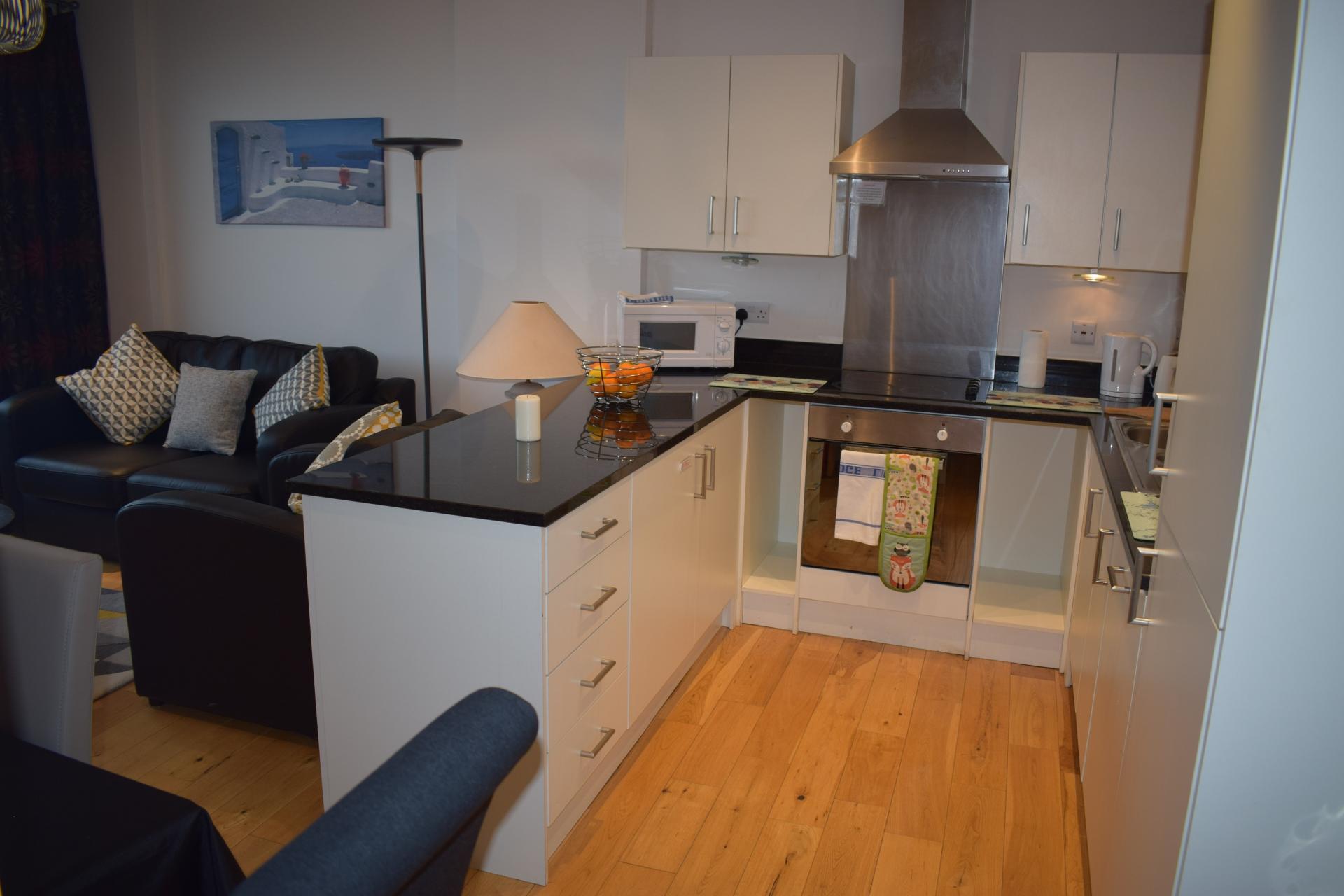 Kitchen at Clarendon Loft Apartments, Centre, Watford