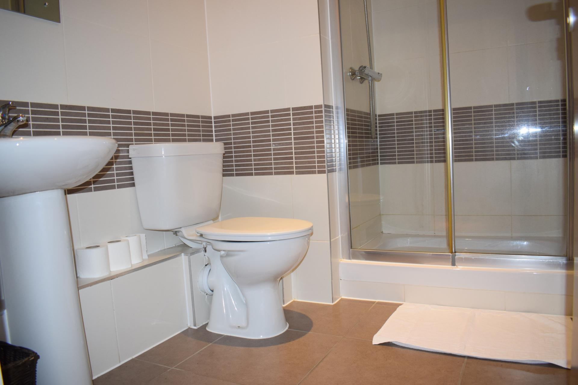Shower at Clarendon Loft Apartments, Centre, Watford