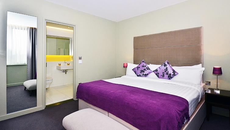 Tasteful bedroom in So Battersea Apartments