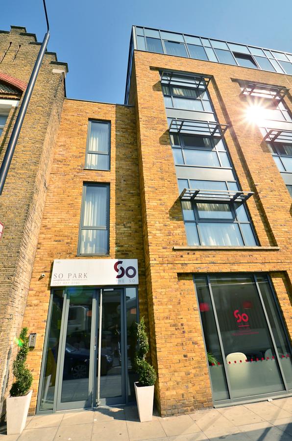 Entrance at So Battersea Apartments, Battersea, London
