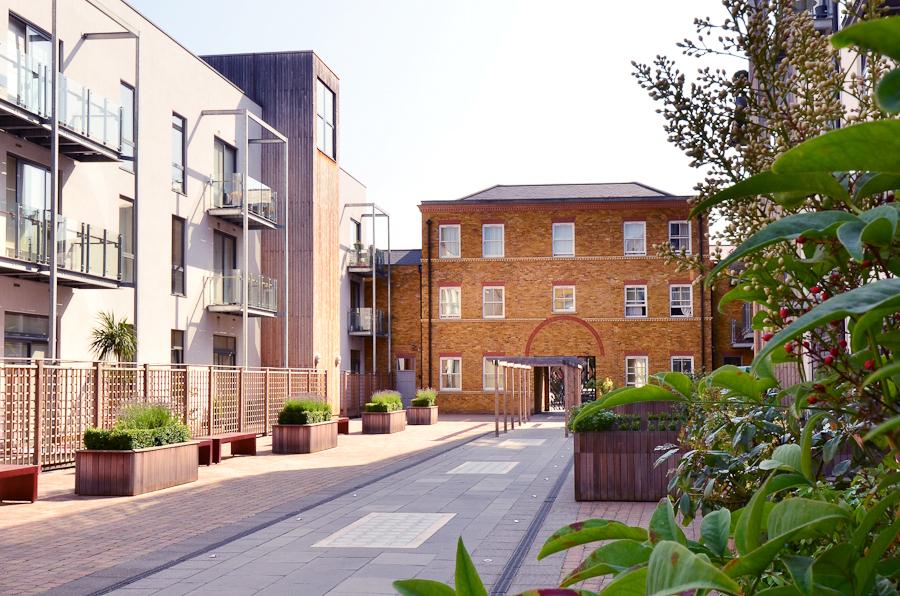 Road at So Battersea Apartments, Battersea, London