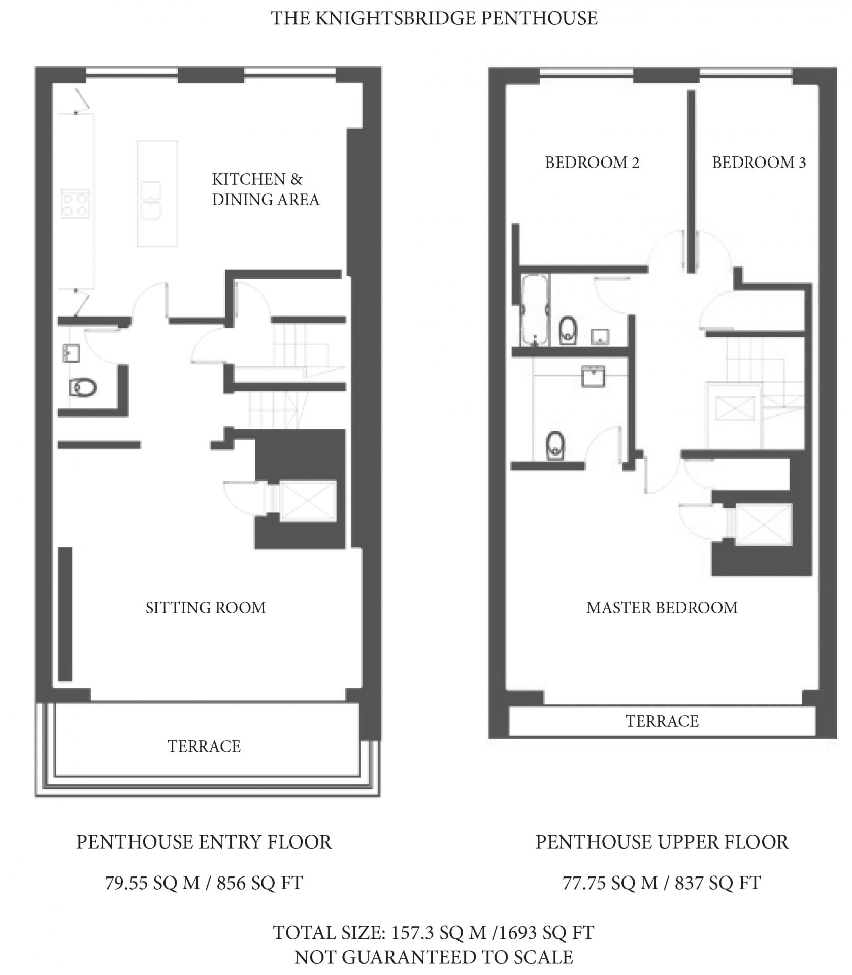 Floorplan at The Capital Hotel Knightsbridge
