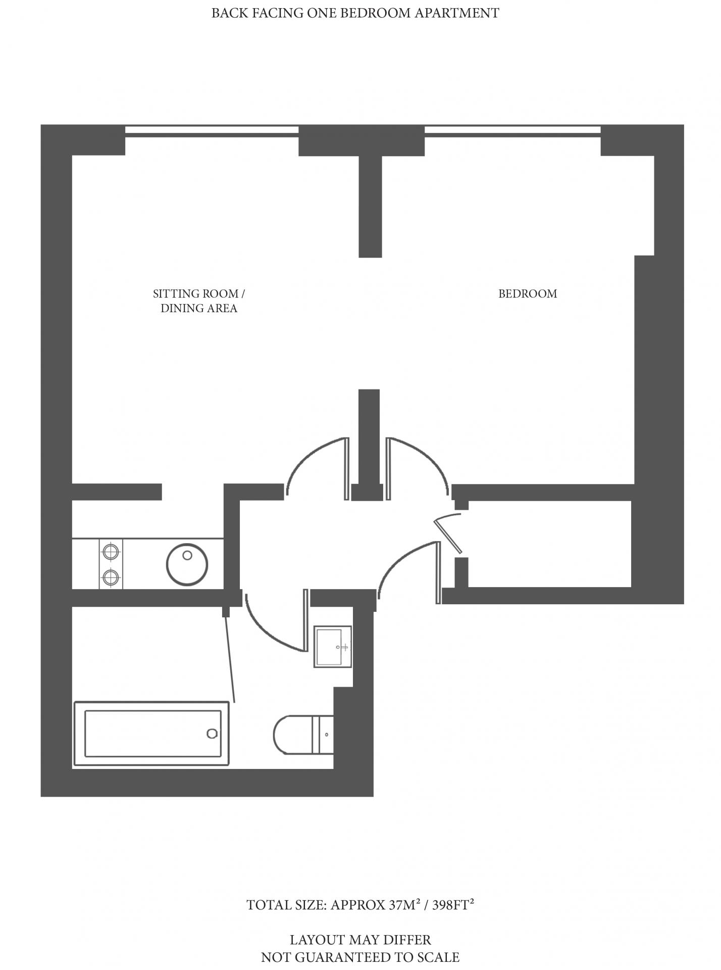 Floorplan 5 at The Capital Hotel Knightsbridge