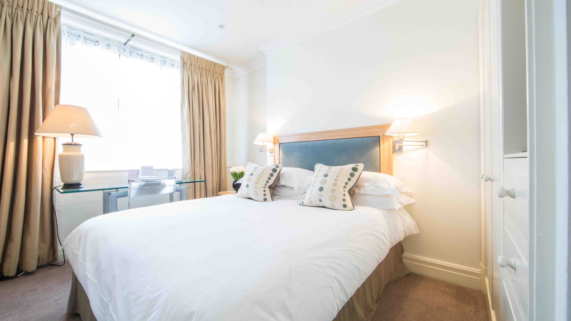 Bright bedroom at The Capital Hotel Knightsbridge
