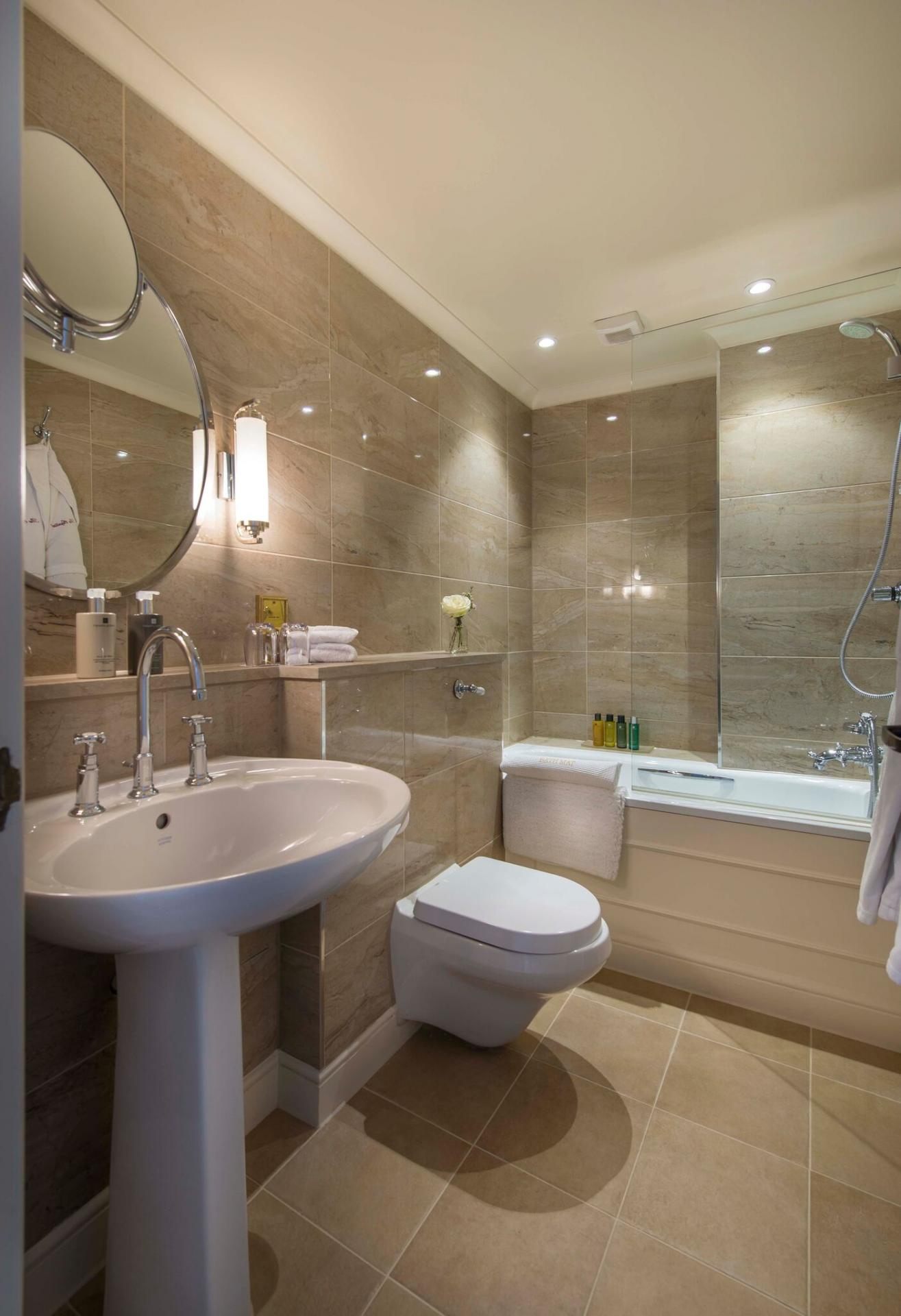 Modern bathroom at The Capital Hotel Knightsbridge