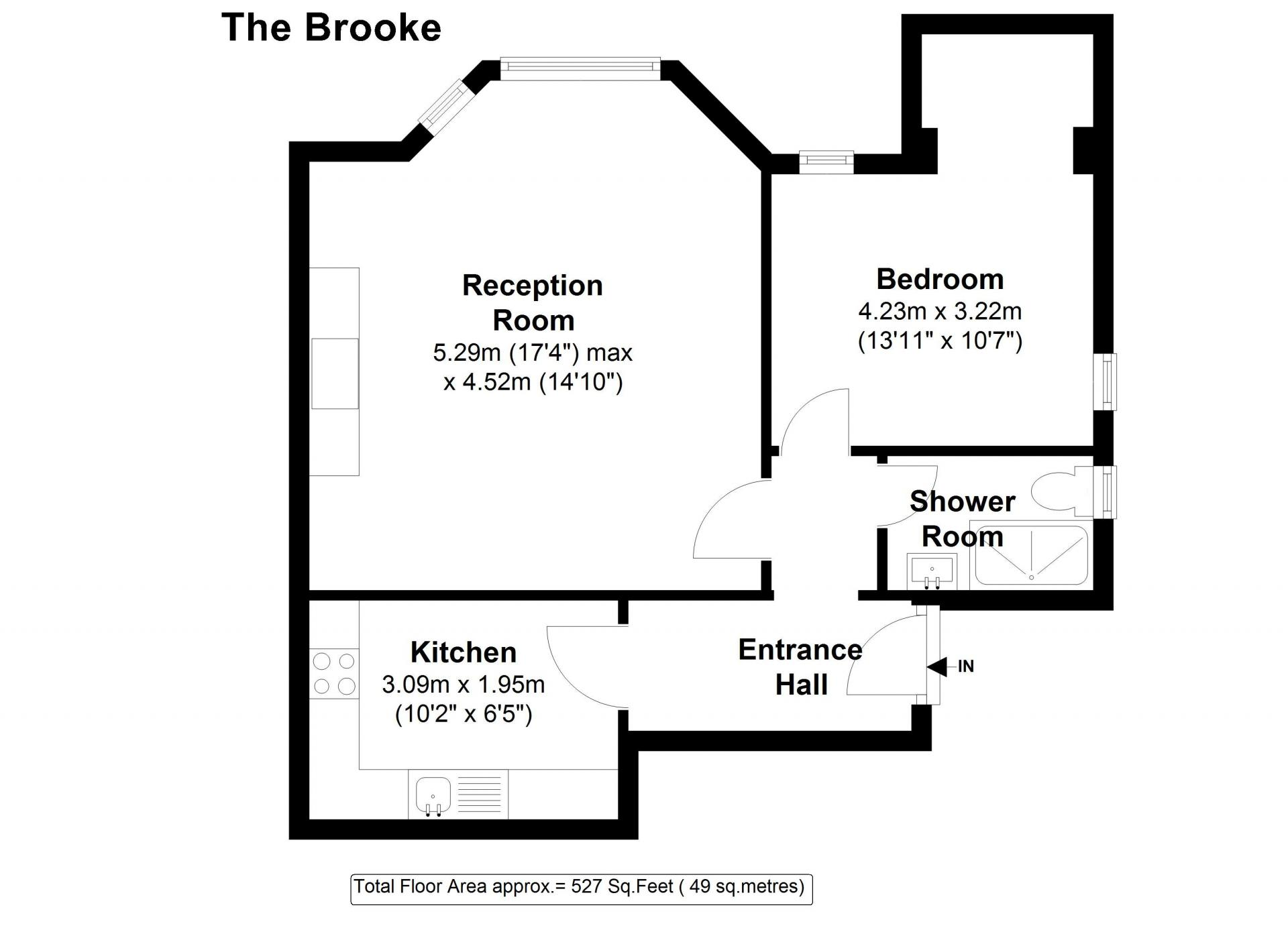 Floor plan 1 at 20 The Barons Apartments, St Margarets, London