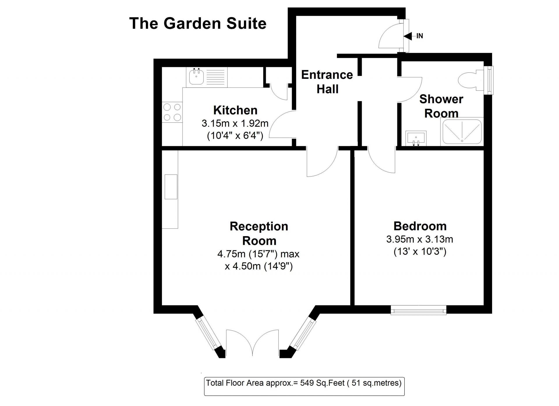 Floor plan 3 at 20 The Barons Apartments, St Margarets, London