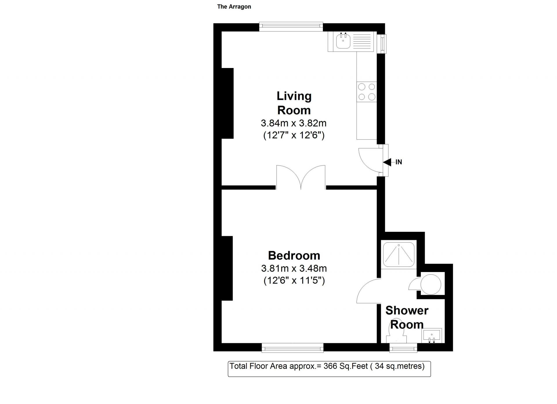 Floor plan 4 at 20 The Barons Apartments, St Margarets, London