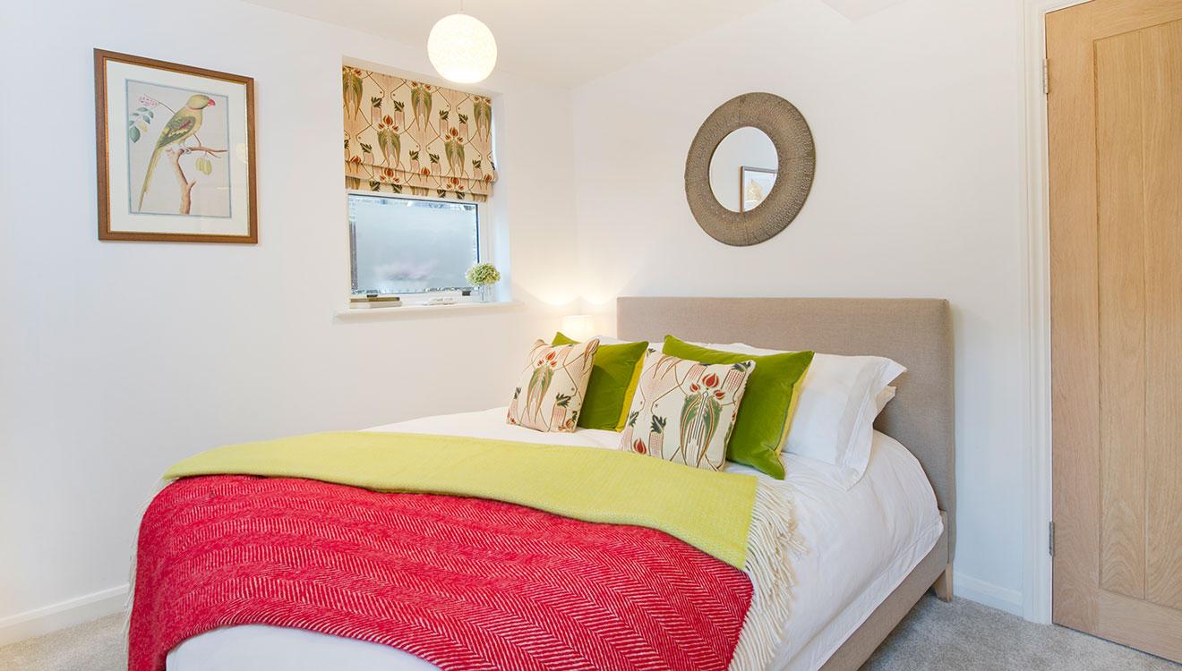 Bright bedroom at 20 The Barons Apartments
