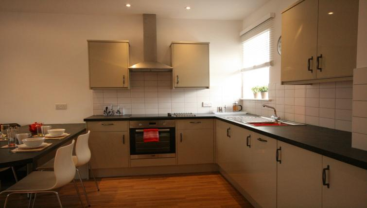 Ideal kitchen in Barley End Apartment