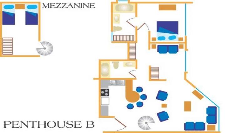 Floor plan 2 at Villas del Rio Aparthotel