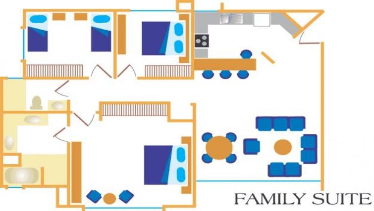 Floor plan 3 at Villas del Rio Aparthotel