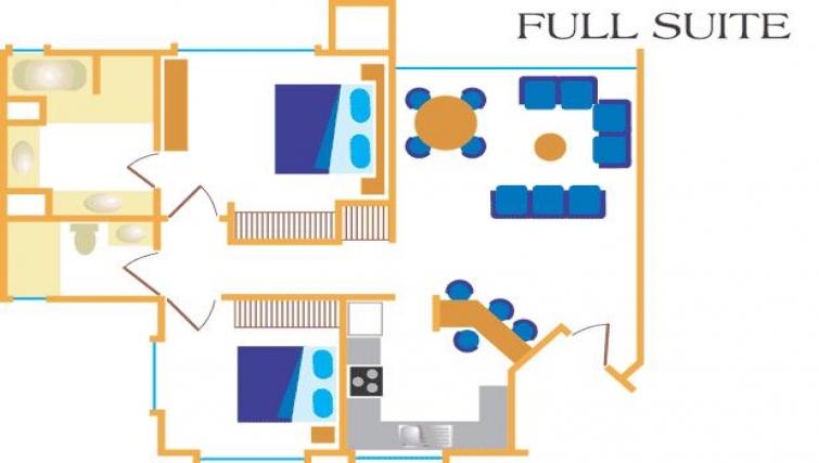 Floor plan 4 at Villas del Rio Aparthotel