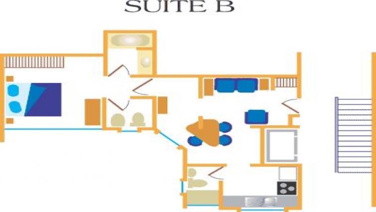 Floor plan 6 at Villas del Rio Aparthotel