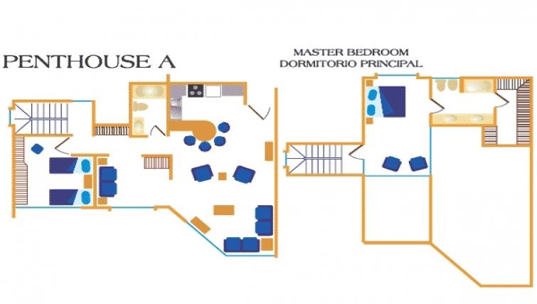 Floor plan 1 at Villas del Rio Aparthotel