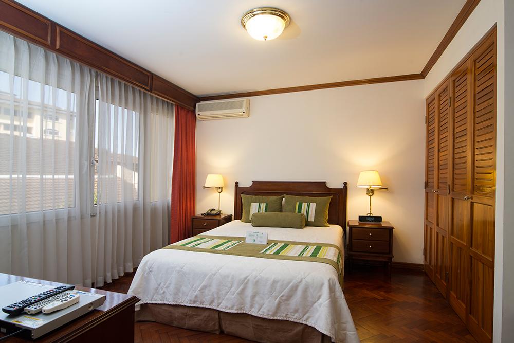Bedroom at Villas del Rio Aparthotel