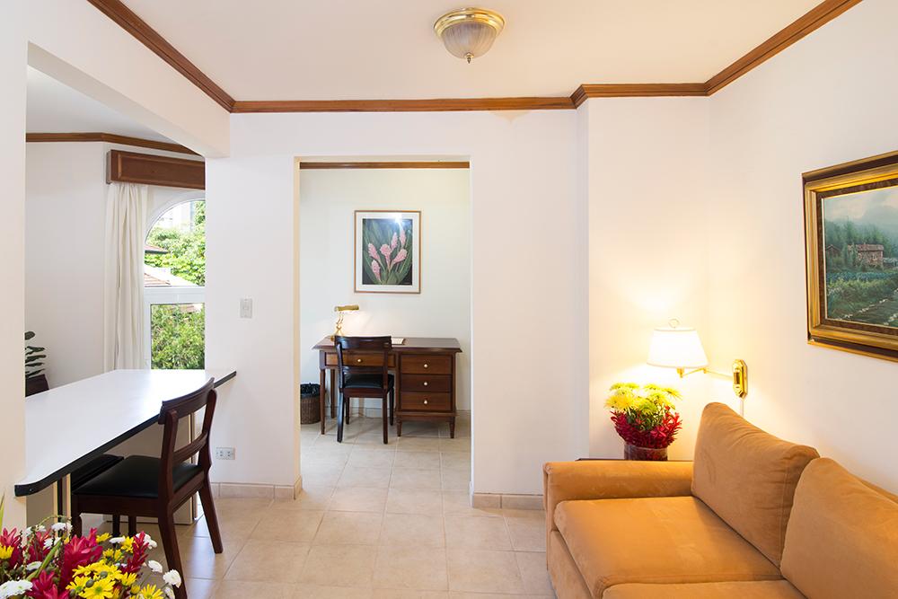 Living room at Villas del Rio Aparthotel