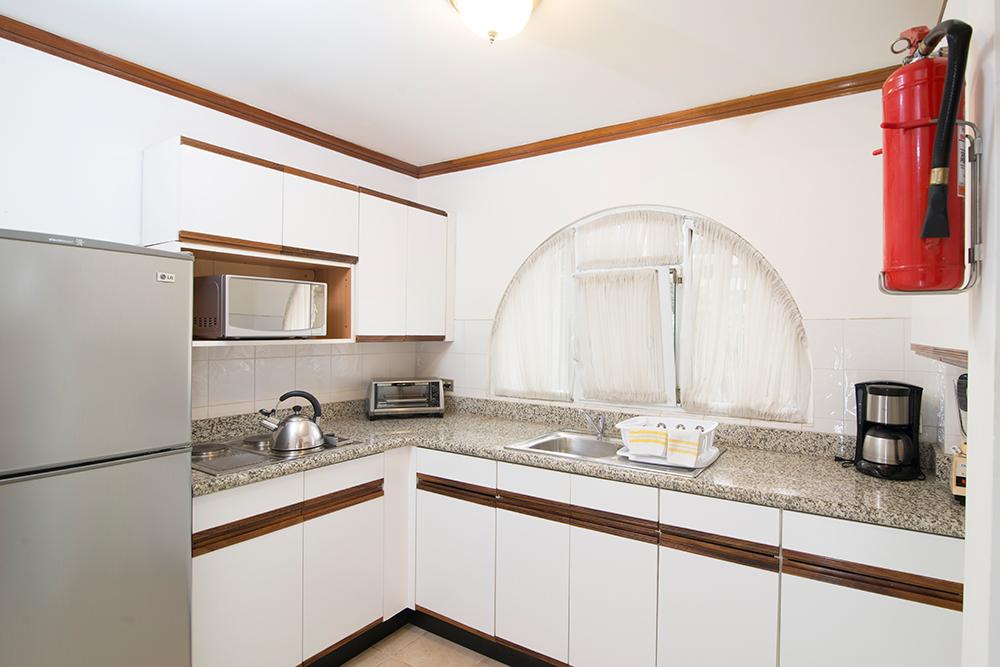 Kitchen at Villas del Rio Aparthotel