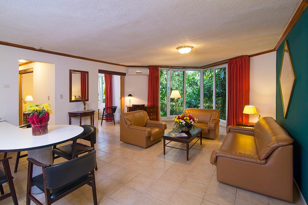 Lounge at Villas del Rio Aparthotel