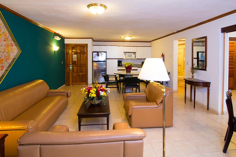 Relaxing area at Villas del Rio Aparthotel