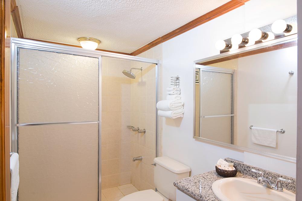 Shower at Villas del Rio Aparthotel