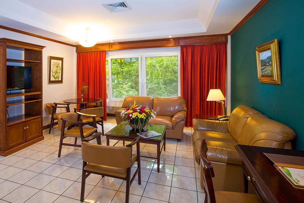 Coffee table at Villas del Rio Aparthotel