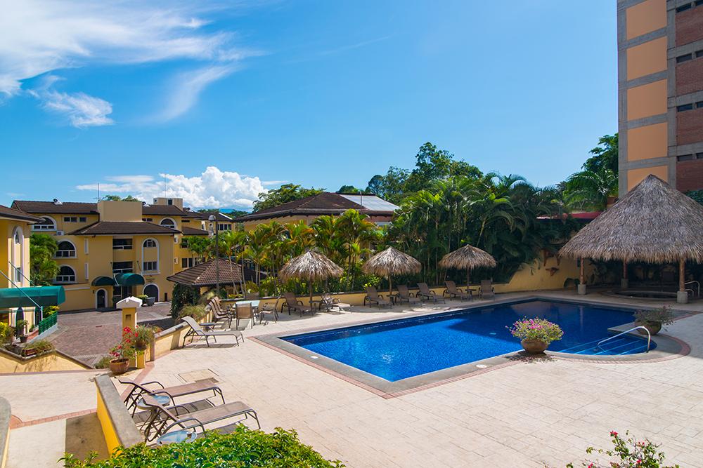 Pool at Villas del Rio Aparthotel
