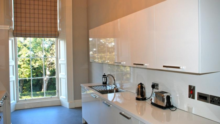 Bright kitchen in Q Residence Apartments