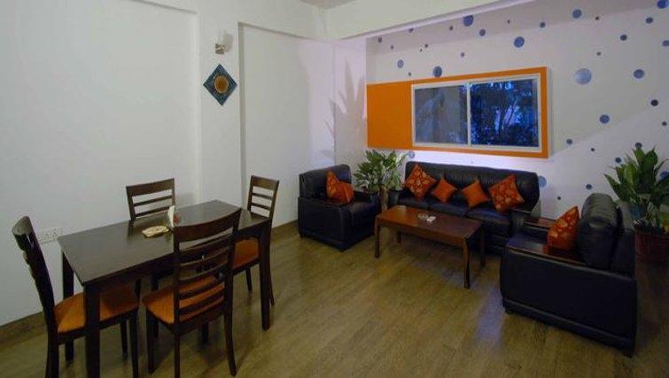Ideal living area in 535 Koramangala Apartments