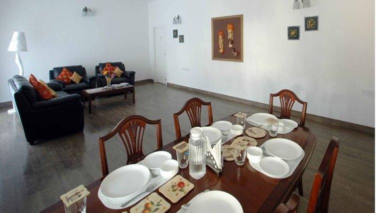 Spacious living area in 535 Koramangala Apartments