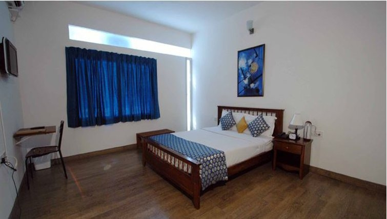 Relaxing bedroom in 535 Koramangala Apartments