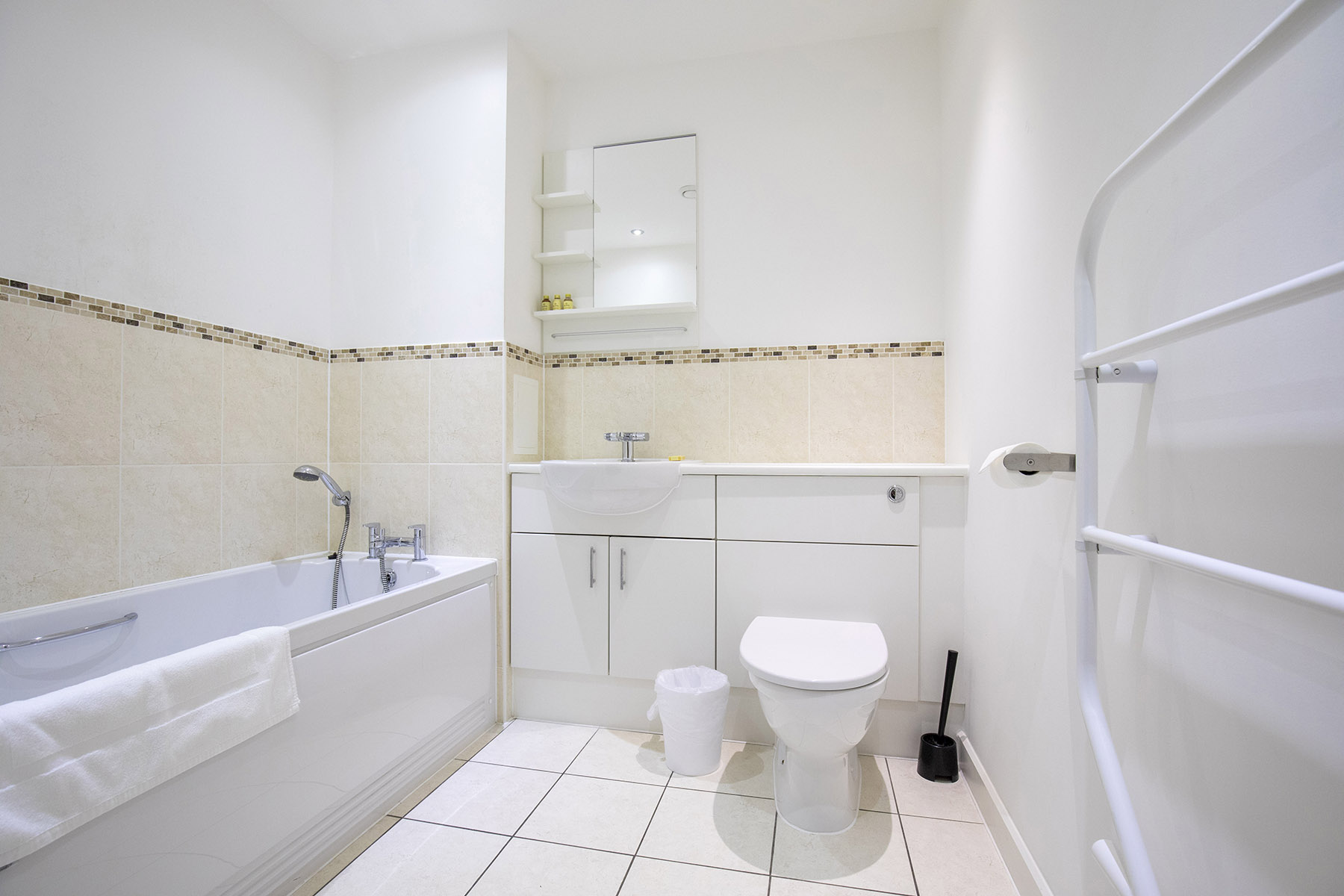 Bathroom at New Central Apartments, Centre, Woking