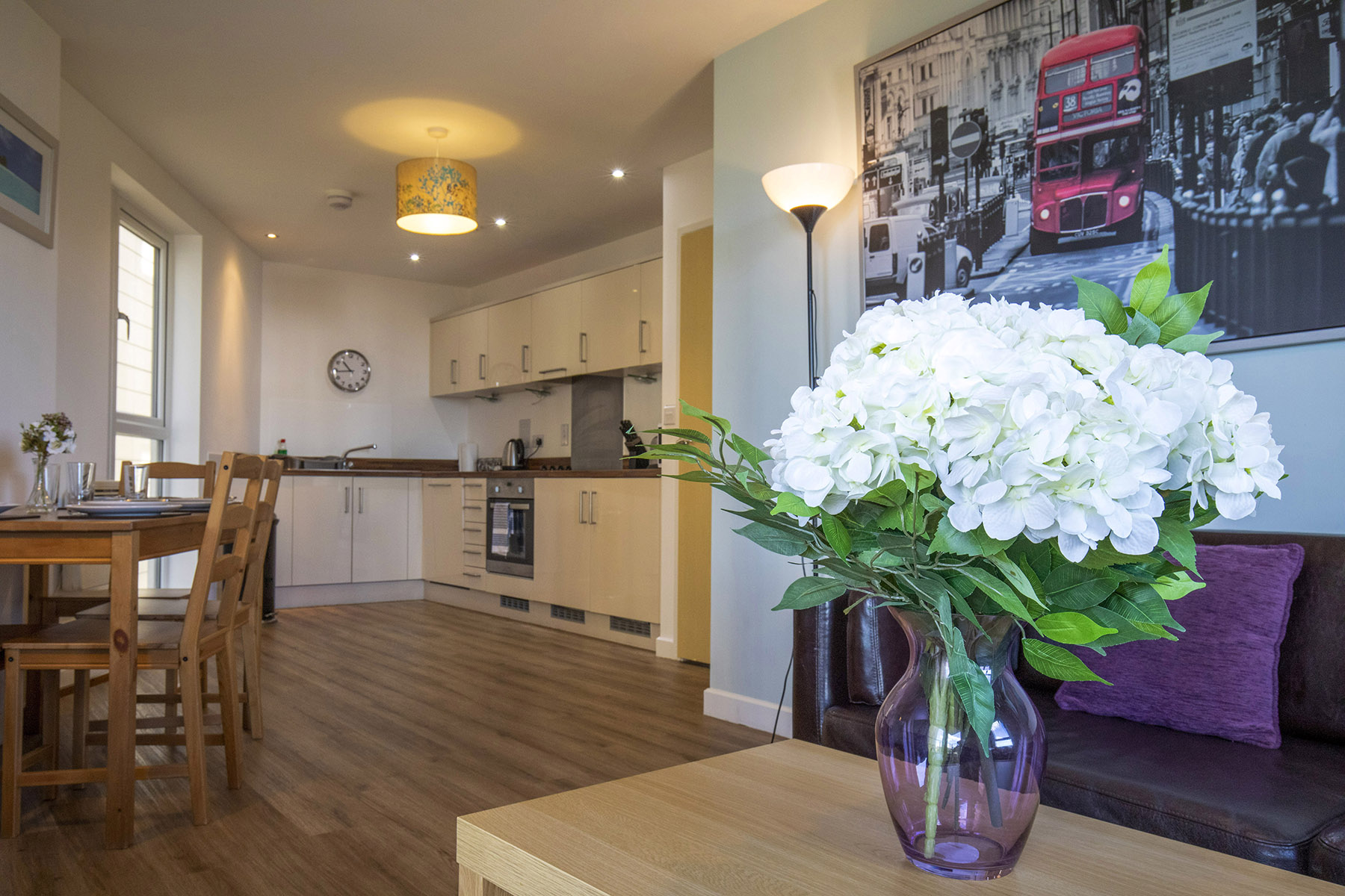 Kitchen/diner at New Central Apartments, Centre, Woking