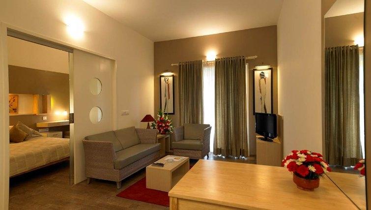 Contemporary living area in Brigade Homestead 4 Apartments
