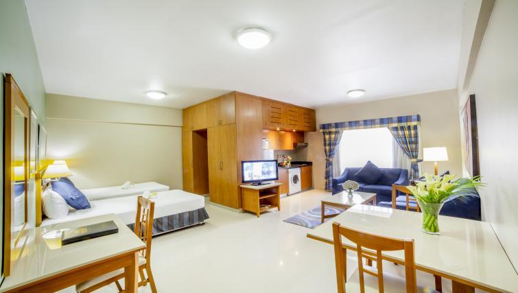 Spacious studio apartment at Golden Sands Apartments