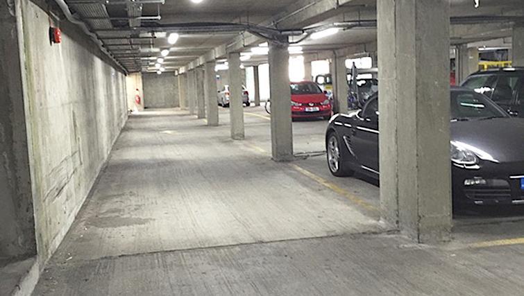 Car park at Chiswick Green Apartment