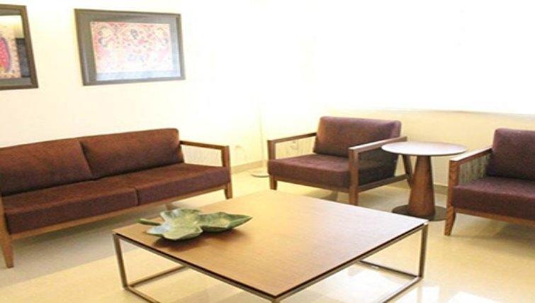 Stylish living area in Kotturpuram Apartments
