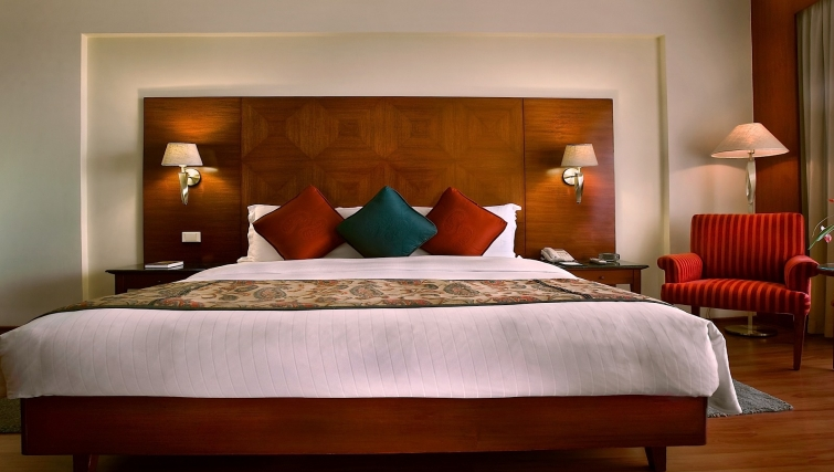 Stylish bedroom in The Lalit Mumbai Apartments