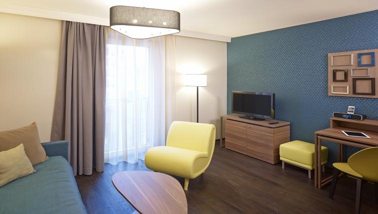 Stylish living area in Adagio Koln City