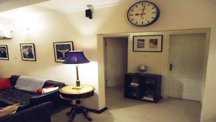 Tasteful living area in Aart Suites