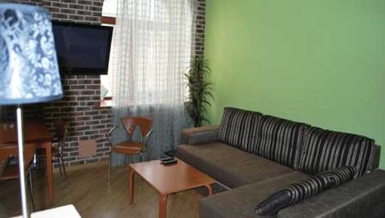 Living area at Basseynaya Apartments