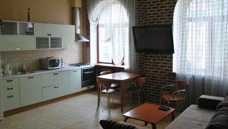 Kitchen at Basseynaya Apartments