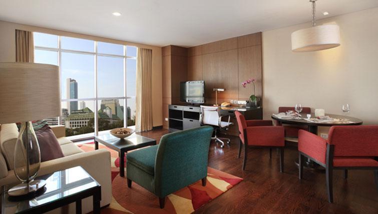 Study/living area at Marriott Executive Apartments Sathorn Vista - Bangkok
