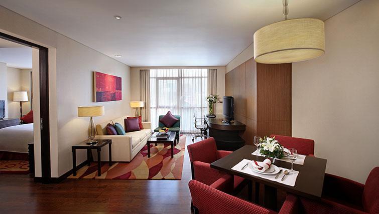 Spacious living area in Marriott Executive Apartments Sathorn Vista - Bangkok