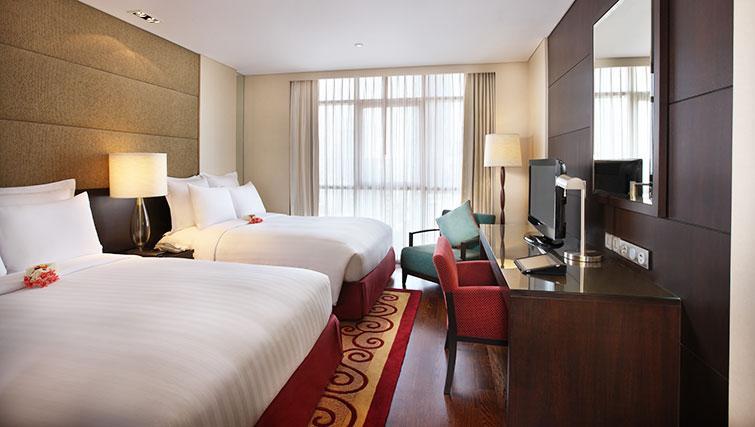 Twin bedroom at Marriott Executive Apartments Sathorn Vista - Bangkok